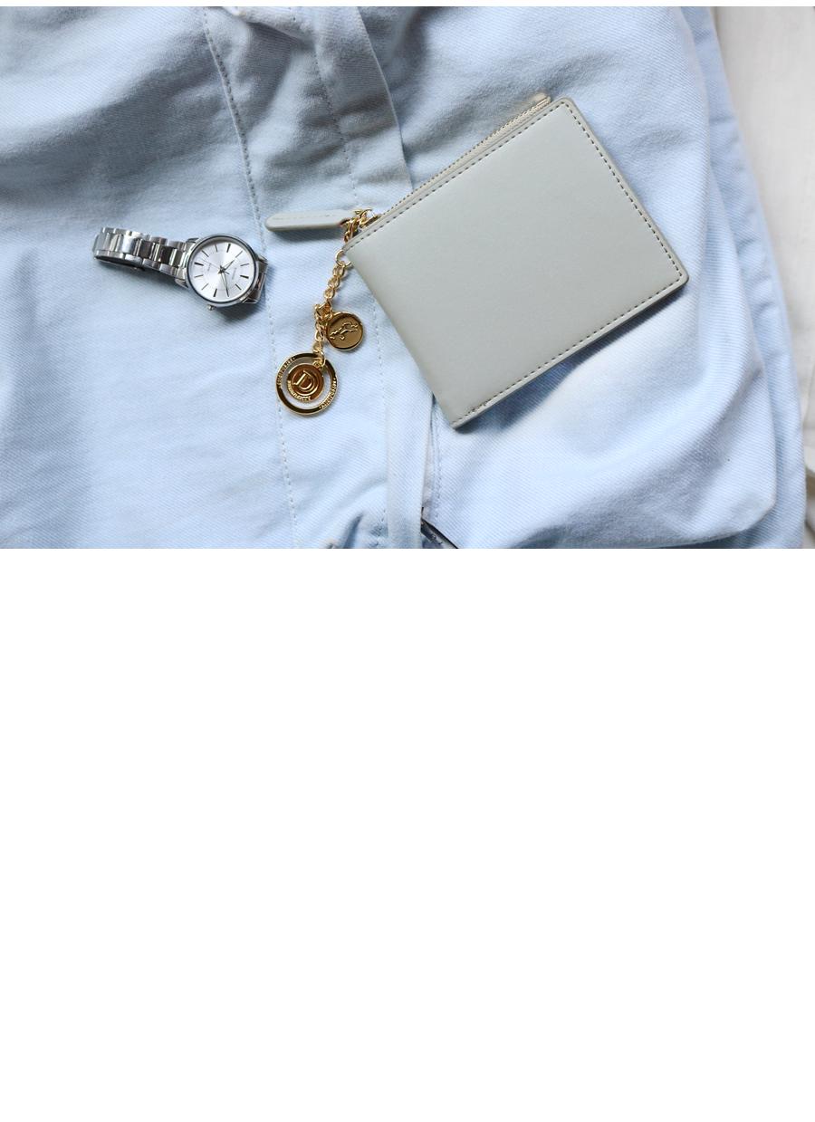디랩(D.LAB) [★별자리 키링 증정]D.LAB Coin Half wallet  - Black 반지갑