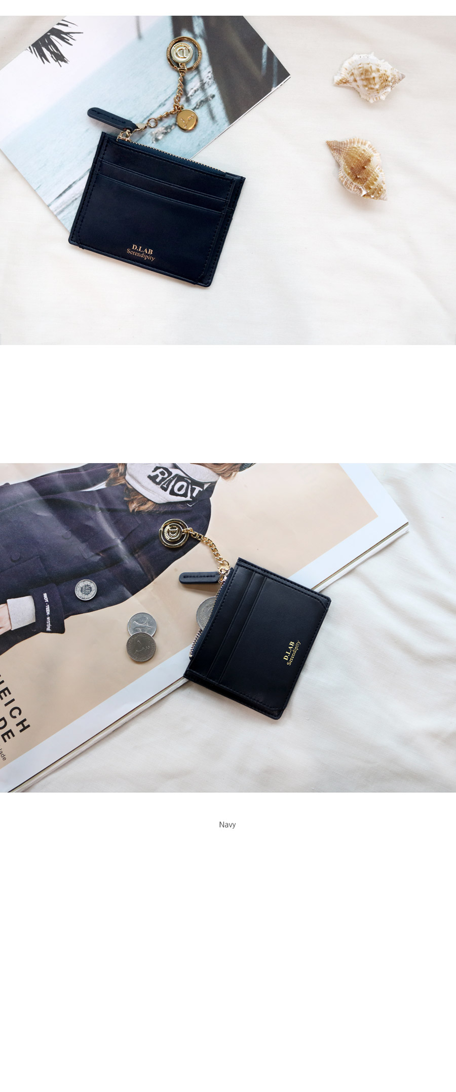 디랩(D.LAB) [★별자리 키링 증정] D.LAB Coin simple card wallet  - Burgundy 카드 지갑