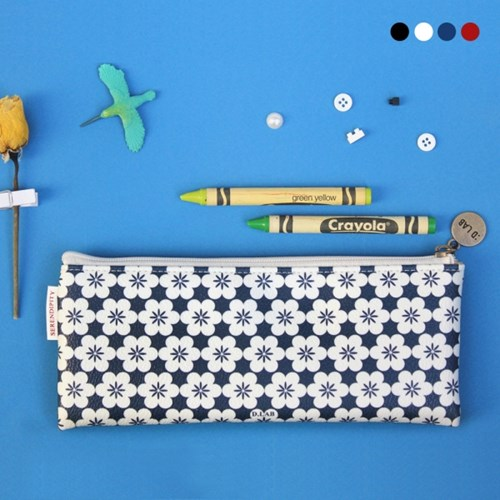 D.LAB Nflower pattern pencilcase - 4 type - 디랩 D.LAB