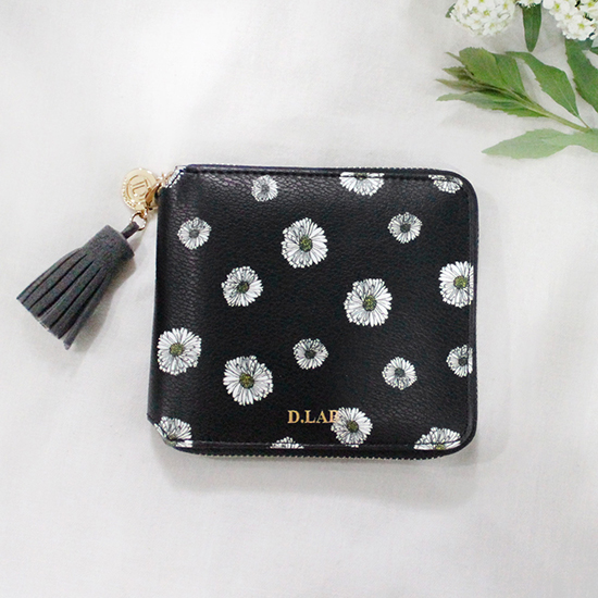 D.LAB Flower zipper wallet - 3 color - 디랩 D.LAB