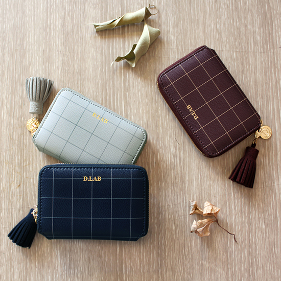 D.LAB Check half wallet - 3 color - 디랩 D.LAB