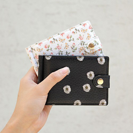 D.LAB Flower pattern money clip - 4 color - 디랩 D.LAB