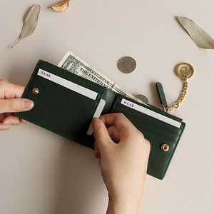 D.LAB Coin Half wallet  - Green - 디랩 D.LAB