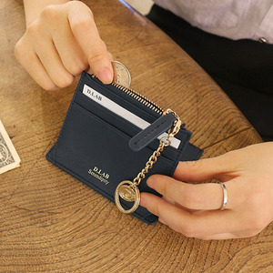 D.LAB Coin simple card wallet - Navy - 디랩 D.LAB