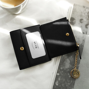 D.LAB Coin name card wallet  - Black - 디랩 D.LAB