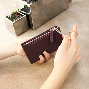 D.LAB Coin card wallet - Burgundy - 디랩 D.LAB