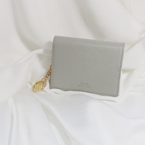 D.LAB Minette Half Wallet - Gray - 디랩 D.LAB