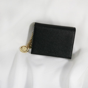D.LAB Minette Half Wallet - Black - 디랩 D.LAB