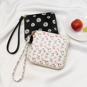 [스트랩 증정] D.LAB Flower zipper wallet - Rose or Daisy - 디랩 D.LAB