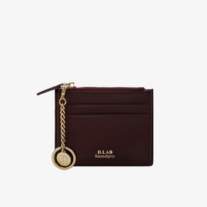 D.LAB Coin simple card wallet - Burgundy - 디랩 D.LAB