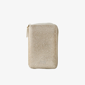 D.LAB Twinkle Zipper Wallet - Sand Gold - 디랩 D.LAB