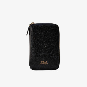 D.LAB Twinkle Zipper Wallet - Black - 디랩 D.LAB
