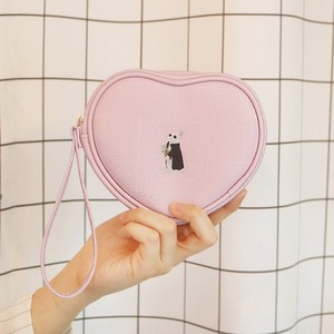 D.LAB Heart Pouch - animal pattern 5 color - 디랩 D.LAB